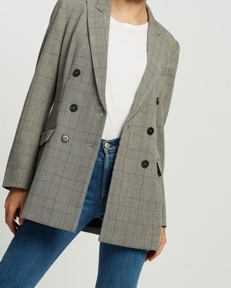 Tommy Hilfiger Poly-Viscose Double-Breasted Blazer