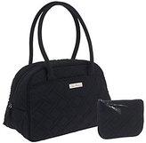 Vera Bradley Microfiber Medium Bowler Bag with Coin Purse