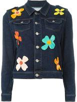 Au Jour Le Jour floral sequinned denim jacket