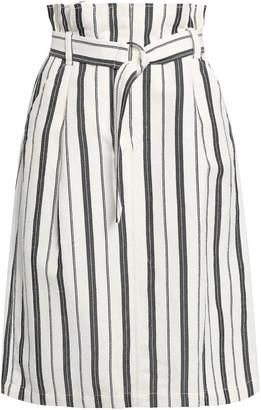 Claudie Pierlot Symphonie Striped Boucle Skirt