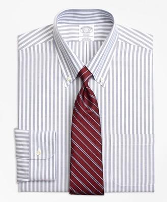 Brooks Brothers BrooksCool Regent Fitted Dress Shirt, Non-Iron Ground Split Stripe