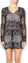 Lucy Paris Black Lace Playsuit