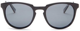 Ted Baker 53mm Plastic Round Polarized Sunglasses