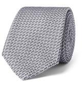 Lanvin 7cm Woven Silk Tie - Silver