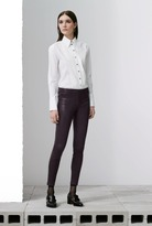 J Brand L8001 Mid-Rise Stretch Leather Pant in Black Plum