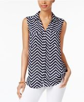 NY Collection Printed Blouse