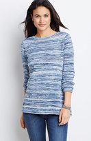 J. Jill Space-Dyed Cotton Pullover