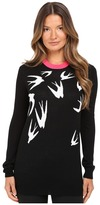 McQ by Alexander McQueen Swallow Jacquard Crew Neck Women's Clothing