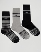 Emporio Armani 3 Pack Socks In Gift Box