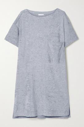 Skin Yael Cotton-blend Terry Nightdress - Gray