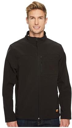 Timberland Power Zip Windproof Softshell Jacket (Jet Black) Men's Coat