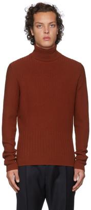 HUGO Orange Wool Degrade Rib Extra Slim Fit Turtleneck