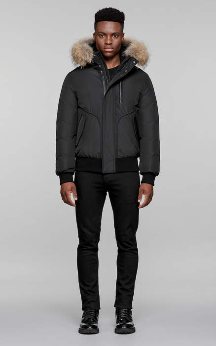 Mackage FLORIAN WINTER DOWN BOMBER JACKET WITH FUR