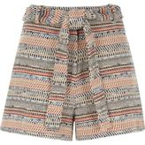 River Island Womens Blue woven jacquard shorts