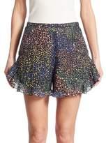 Chloé Ruffled Lurex Shorts