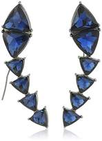 Steve Madden Triangle Threader Drop Earrings