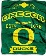 Oregon University of Raschel Throw Blanket