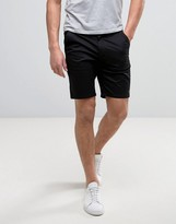 Farah Hawk Straight Chino Shorts In Black