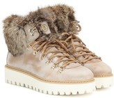 Bogner Oslo fur-trimmed leather snow boots