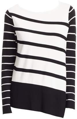 Saks Fifth Avenue Asymmetric Stripe Tunic