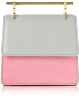 M2Malletier Mini Collectionneuse Cool Gray and Candy Suede Crossbody Bag