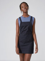 Frank + Oak Pocket Pinafore Dress in True Black