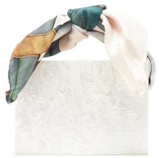Montunas Guaria Mini Pearlescent-acetate Box Bag - White Multi
