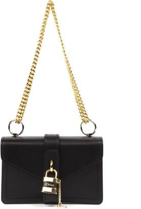 Chloé Aby Black Leather Shoulder Bag