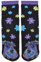 Laurel Burch Women's Single Pack Friendly Animal Slipper Socks