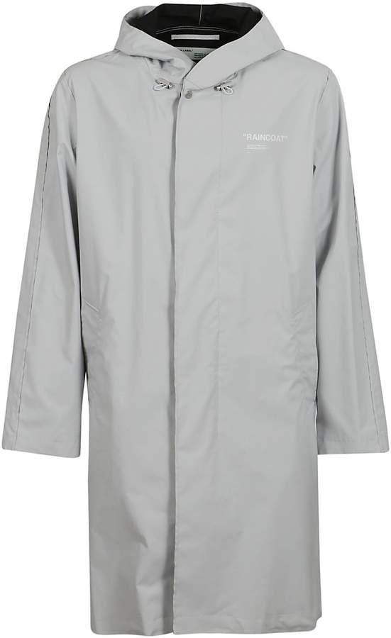 Off-White Off White Printed Raincoat
