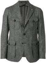Tagliatore tweed fitted blazer
