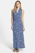 Vince Camuto 'Speckle Texture' Sleeveless Maxi Dress