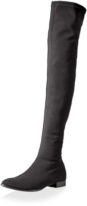 Le Babe Women's Over The Knee Flat Stretch Boot