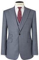 John Lewis & Co. Drayton Wool Crossweave Tailored Suit Jacket, Smokey Blue