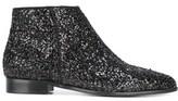 Anna Baiguera Women's Black Glitter Ankle Boots.