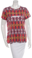 Tory Burch Embellished Printed T-Shirt