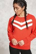 Forever 21 Distressed Chevron Sweatshirt