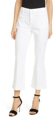 Frame Le Bardot Crop Flare Leg Jeans