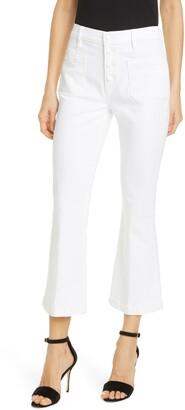 Frame Le Bardot High Waist Crop Flare Jeans