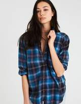 American Eagle Outfitters AE OVERSIZED DESTROY PLAID BUTTON-DOWN SHIRT