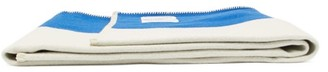 Calvin Klein X Pendleton Striped Wool-blend Blanket - Blue Stripe