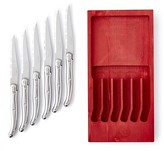 Laguiole Jean Dubost Stainless-Steel Steak Knives in Red Box, Set of 6