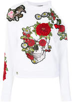 Philipp Plein floral skull sweatshirt