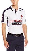 U.S. Polo Assn. Men's Short Sleeve Multi Logo Pique Polo Shirt