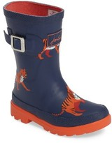 Joules Boy's Welly Print Waterproof Rain Boot
