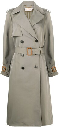 Tory Burch Belted Double-Breasted Trench Coat