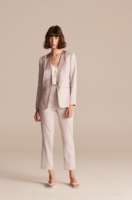 Rebecca Taylor Tailored Slub Twill Suiting Pant