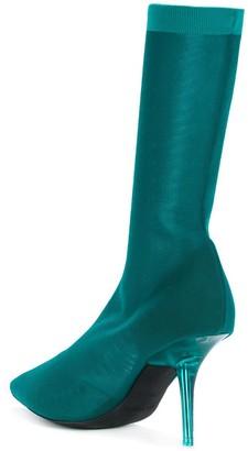 Yeezy Transparent Heel Sock Boots