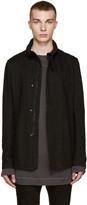 Julius Black Denim Asymmetric Jacket