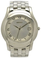 Gucci 5500M Stainless Steel Silver Dial Quartz 35mm Mens Watch